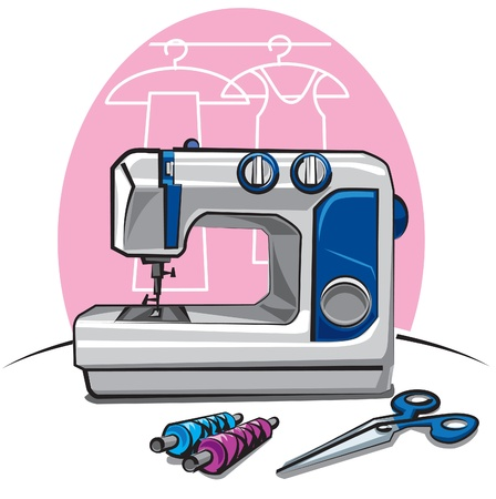 embroider: sewing machine
