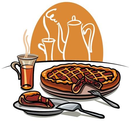 holiday food: sweet pie and tea