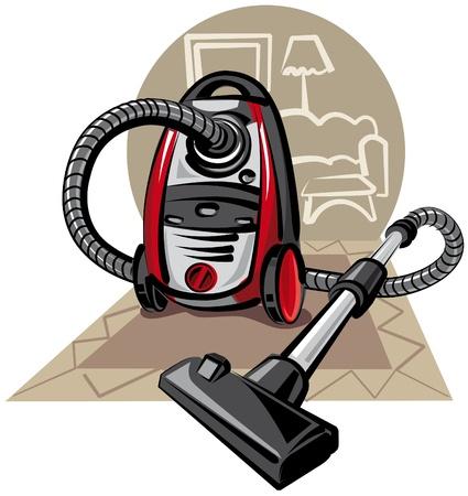 기밀: 진공 청소기 일러스트
