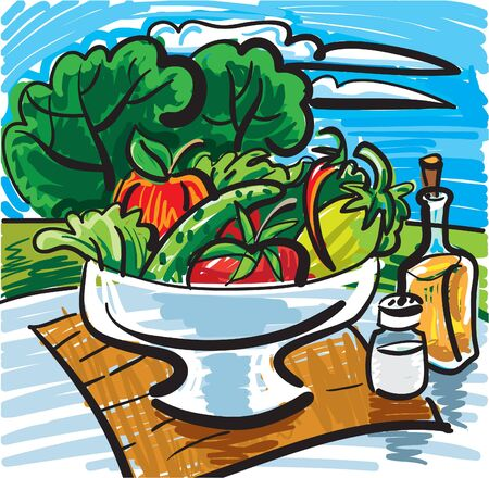 still life with vegetables Stock Vector - 9602722