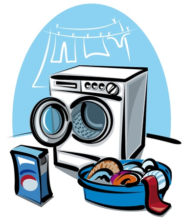 machine � laver: laveuse Illustration