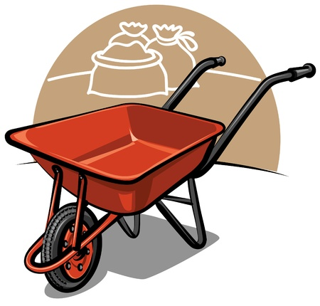wheelbarrow Stock Vector - 9602703