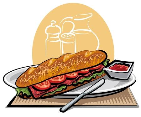 ham: french sandwich