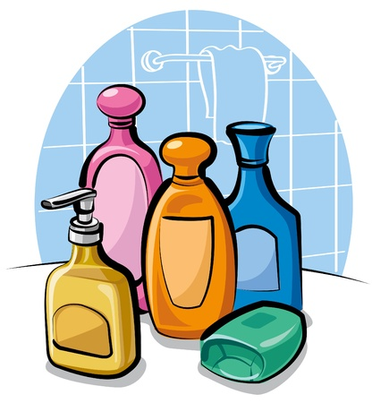 shampoo and soap Stock Vector - 9930022