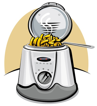 fryer: deep fryer and chips