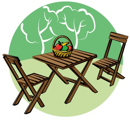 garden furniture Vector