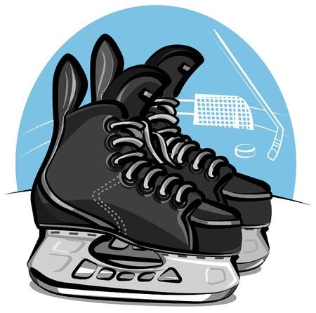 ice rink: hockey skates