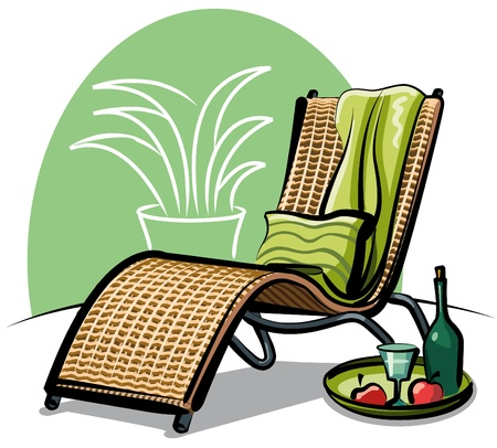 chaise longue: lounge chair