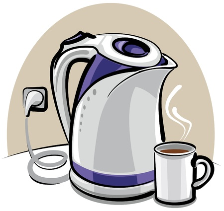 boiling water: electric kettle