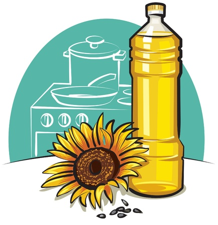 sunflower cooking oil Stock Vector - 10365166