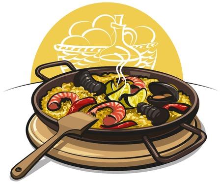cozza: paella spagnola