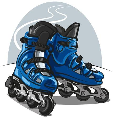 Roller Skates Stock Vector - 10653106