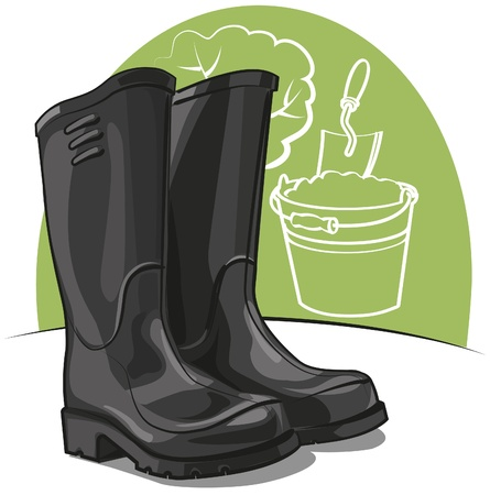 rubberboots: Gummistiefel Illustration