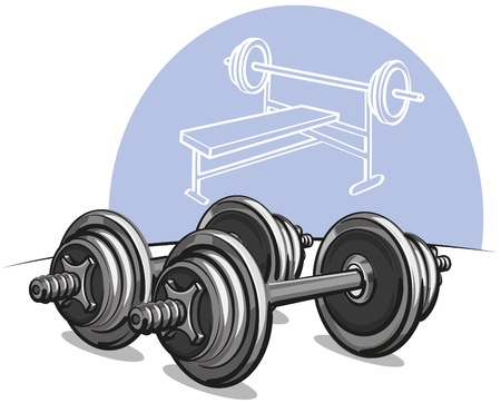 weightlifting equipment: pesas