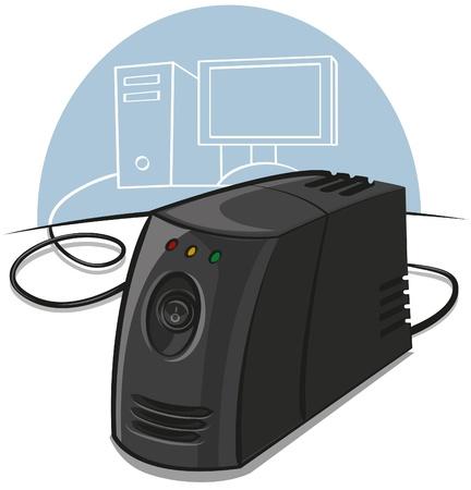 stabilizer: voltage stabilizer Illustration