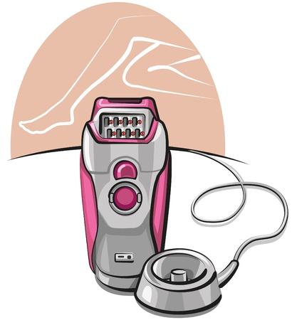 depilacion con cera: Rosa depiladora Vectores