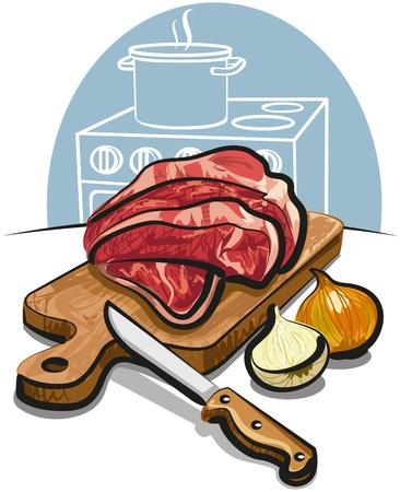 beef: carne fresca cruda