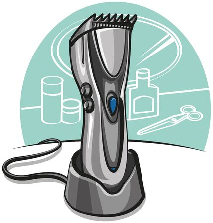 clipper: electric hair clipper Illustration
