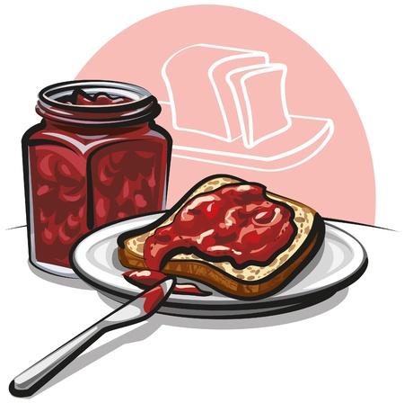 gelatina: mermelada con el pan