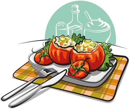 mayonnaise: stuffed tomatoes