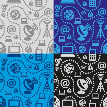 web technology seamless pattern Stock Vector - 11423187