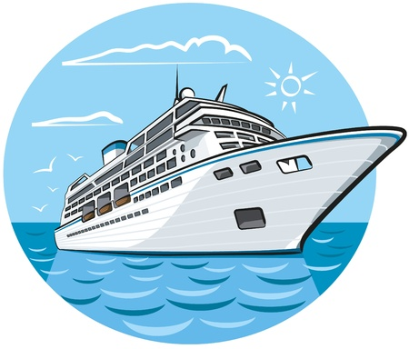 luxury travel: cruceros de lujo Vectores