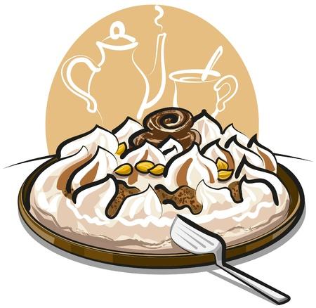 crumb: ice cream cake Illustration