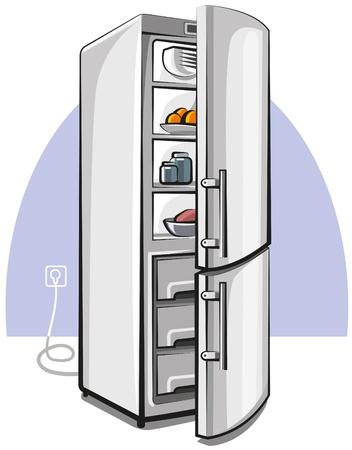 twee deurs koelkast Vector Illustratie