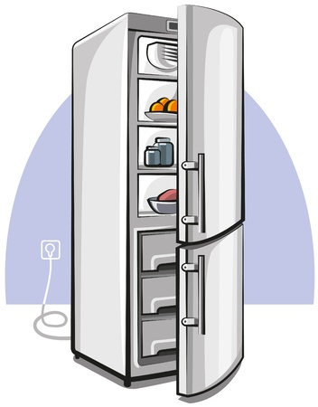 refrigerator: two door refrigerator