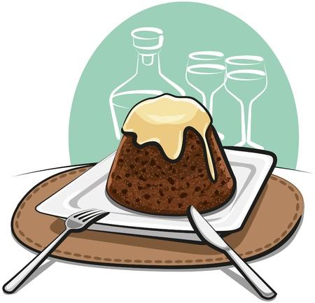 homemade pudding Stock Vector - 12011145