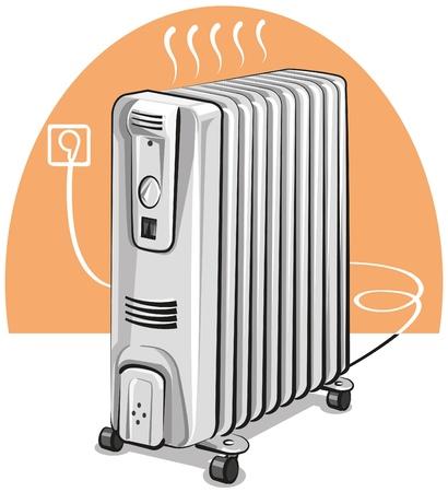 radiador: Calentador de aceite eléctrica