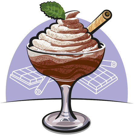 chocolate swirl: chocolate mousse