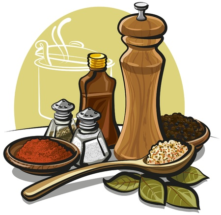 salt pepper: spices