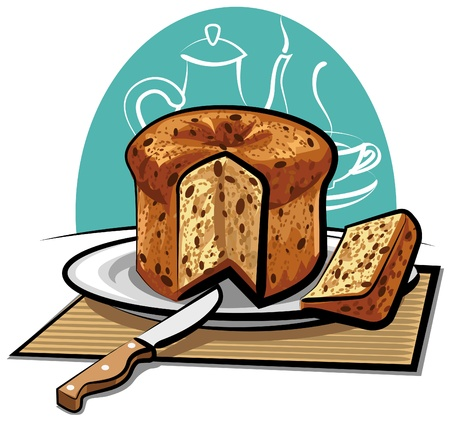 fruitcake: panettone cake
