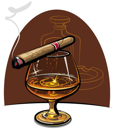 cognac: Cognac and cigar