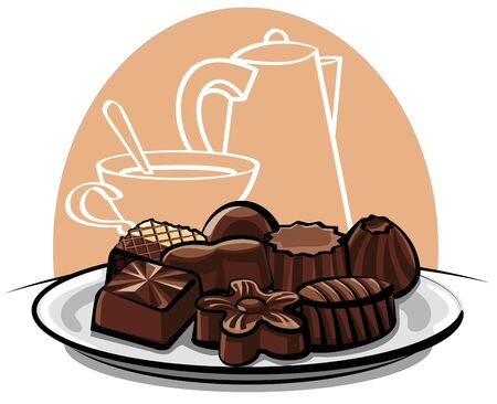 chocolate sweets Stock Vector - 12816553