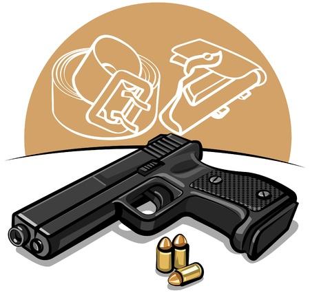 automatic: automatic handgun
