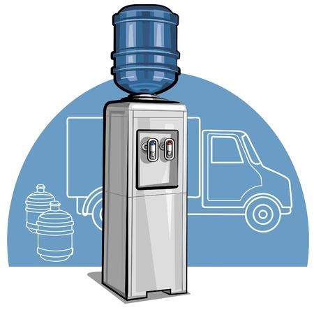 renat: Elektrisk vattenkylare Illustration