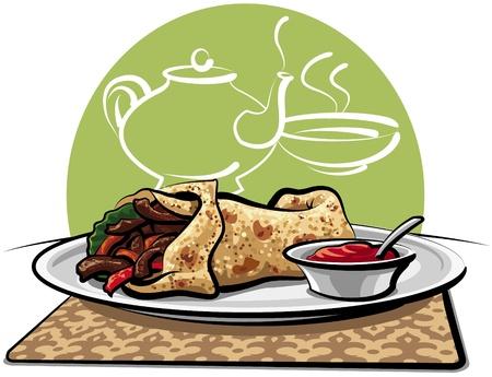 steak beef: Doner kebab, shawarma
