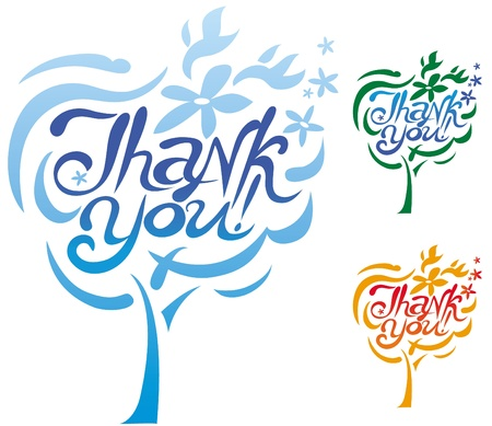 thank you inscription Stock Vector - 12816585