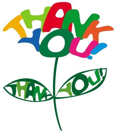 gratitudine: grazie iscrizione Vettoriali