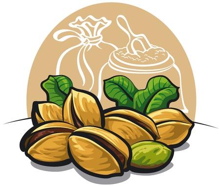 pistachios Illustration