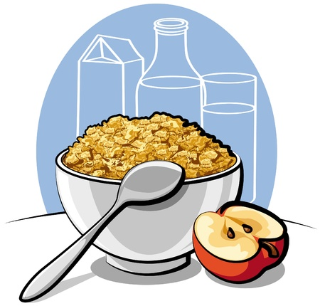 merenda: cornflakes gustosi Vettoriali
