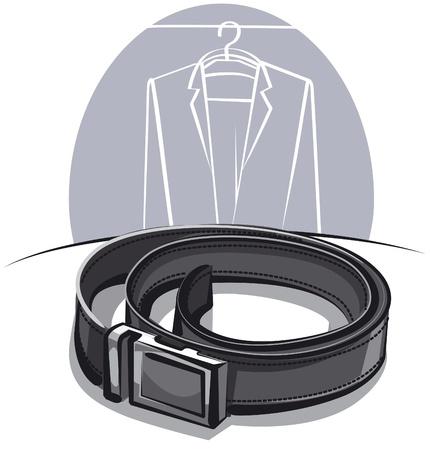 cintur�n de cuero: los hombres cintur�n de cuero Vectores