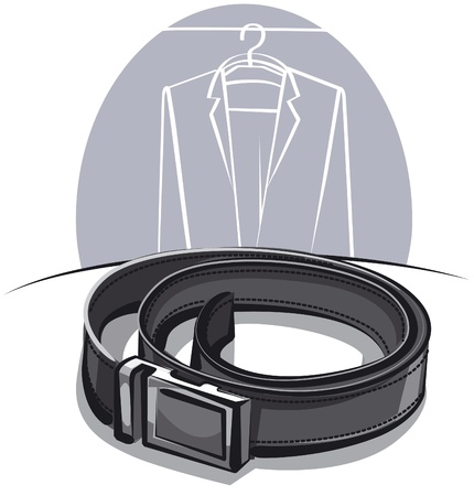 leather belt: men leather belt Illustration