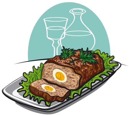 albondigas: carne mechada Vectores
