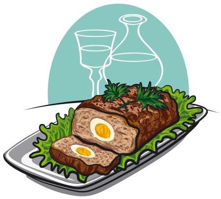 meatloaf Stock Vector - 14072610