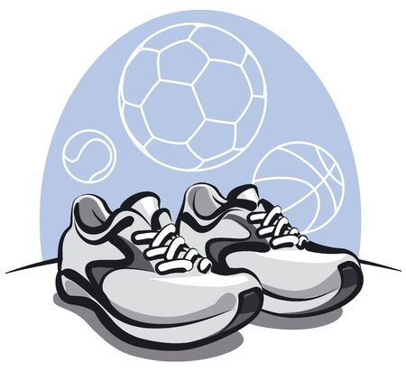 pair of sport sneakers Stock Vector - 14261846