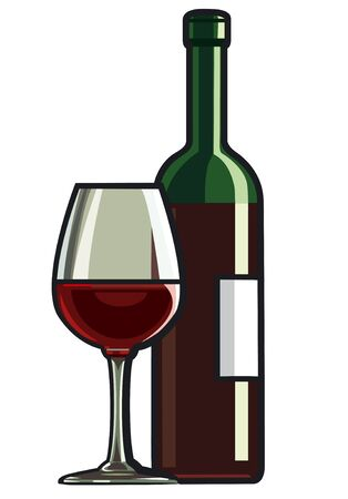 red wine Stock Vector - 14553936