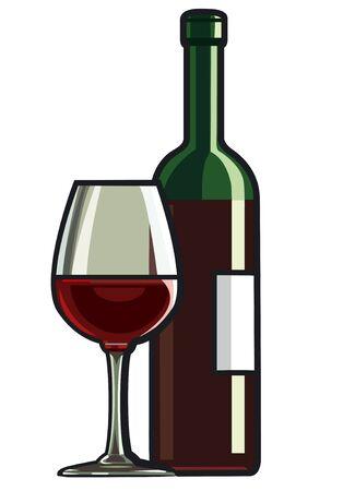 vino tinto Ilustración de vector